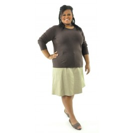 Short Corneado Skirt / Womens Plus Size