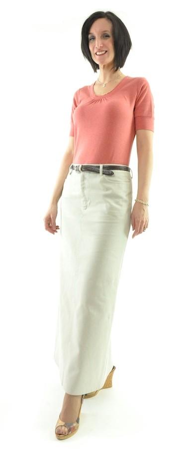 Dressing For His Glory : Long Jean Skirt / Ladies - Long ...