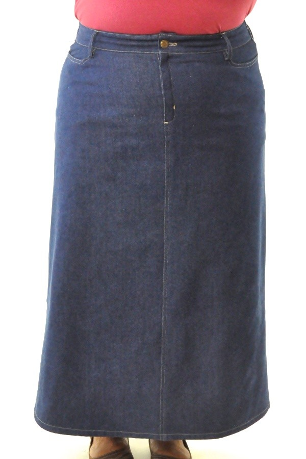 Dressing For His Glory : Long Jean Skirt / Womens Plus ...