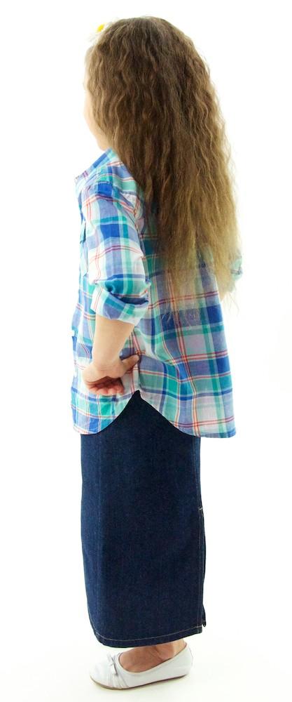 Dressing For His Glory : Long Jean Skirt / Girls - Skirts