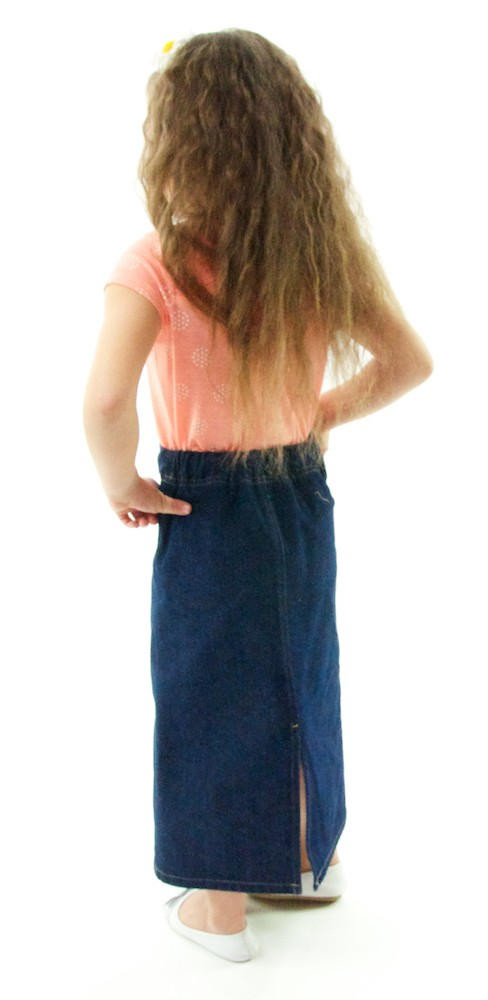 Dressing For His Glory : Long Jean Skirt / Girls