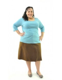 Short Jean  Skirt / Womens Plus Size