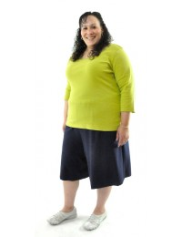 Walking Culottes / Cotton / Womens Plus Size