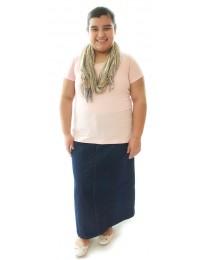 Long Jean Skirt / Girls Plus Size