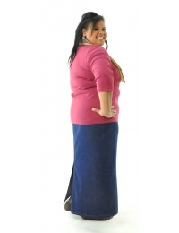 Long Jean Skirt / Womens Plus Size