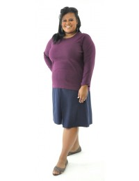 Two Pleater Culottes / Womens Plus Size