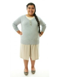 Two Pleater Culottes / GIRLS PLUS SIZE