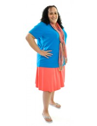 New Solid Knit Skort / Womens Plus Size