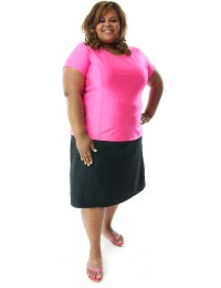 Swim Straight Skort / Womens Plus Size